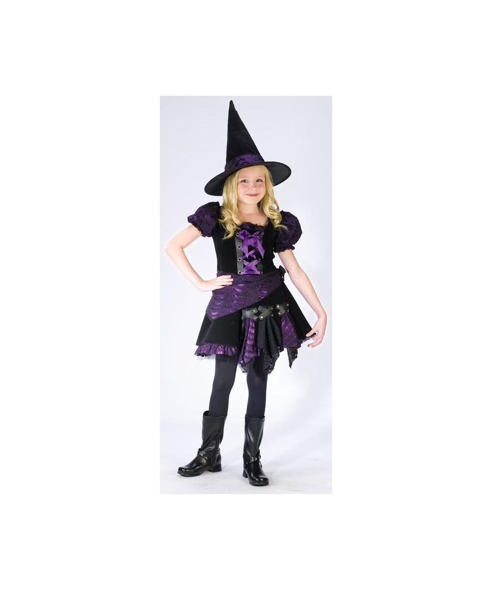 purple punk witch kids halloween costume girls costume - Witch Halloween Costumes For Girls
