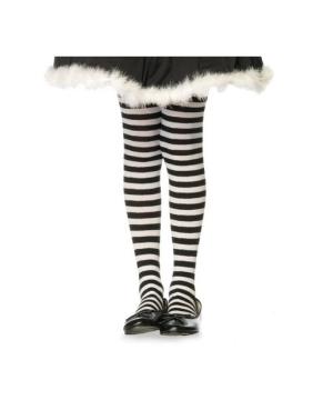 Blackwhite Child Striped Tights