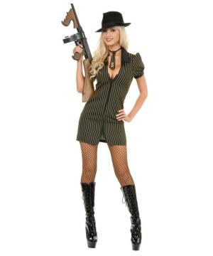 Gangster Moll Dress Women Costume