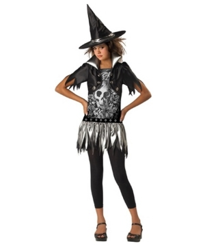 Gothic Witch Teen Halloween Costume - Girls Costume
