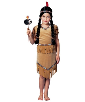 Pow Wow Girls Indian Costume