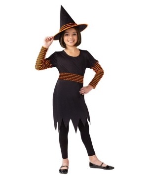 Pumpkin Patch Witch Girls Costume