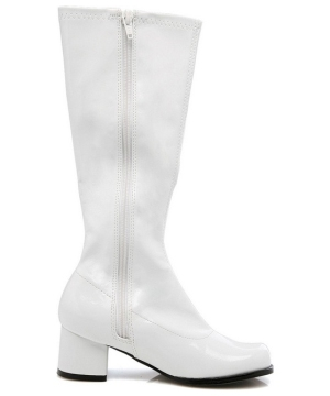 White Go Go Boots - Child Boots