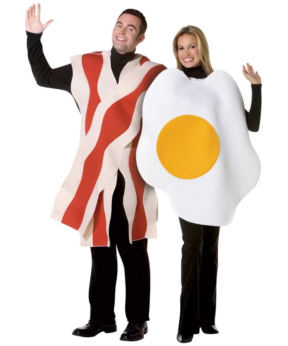 Bacon Eggs Couples Costume