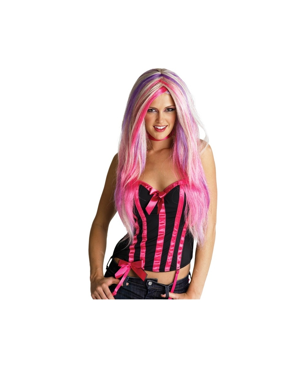 Blonde And Pink Rebel Wig Women S Costume Accessories
