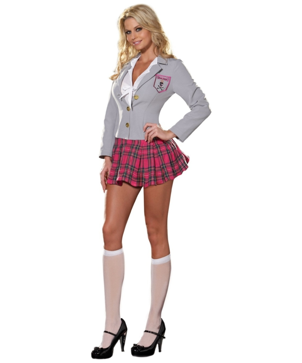 adult charm school dropout school girl sexy costume