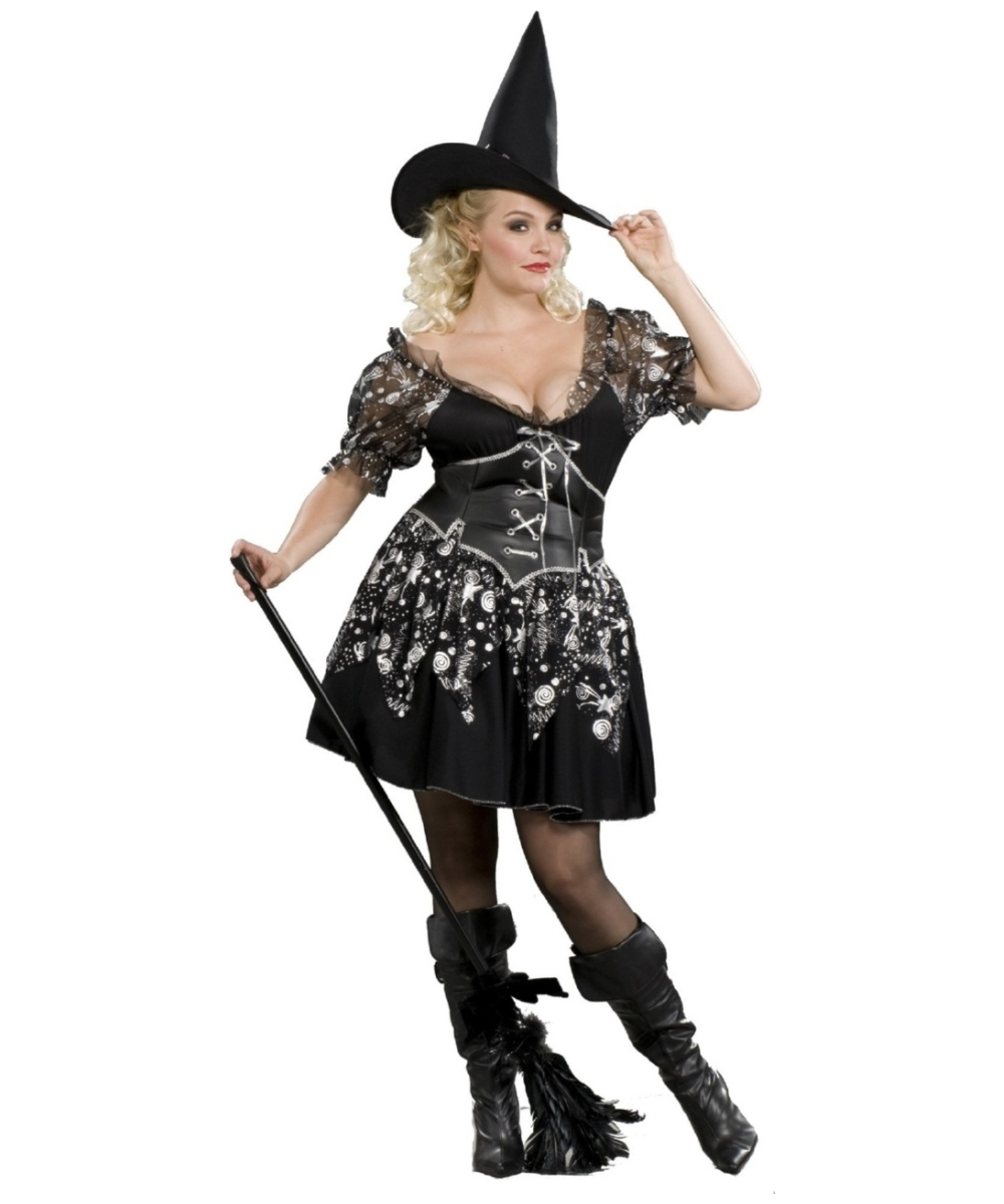 Adult Charmed Witch plus size Halloween Costume - Witch ...