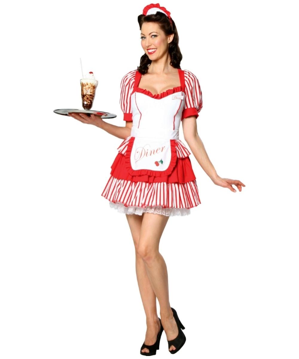 vintage diner delight costume adult halloween costumes. Black Bedroom Furniture Sets. Home Design Ideas