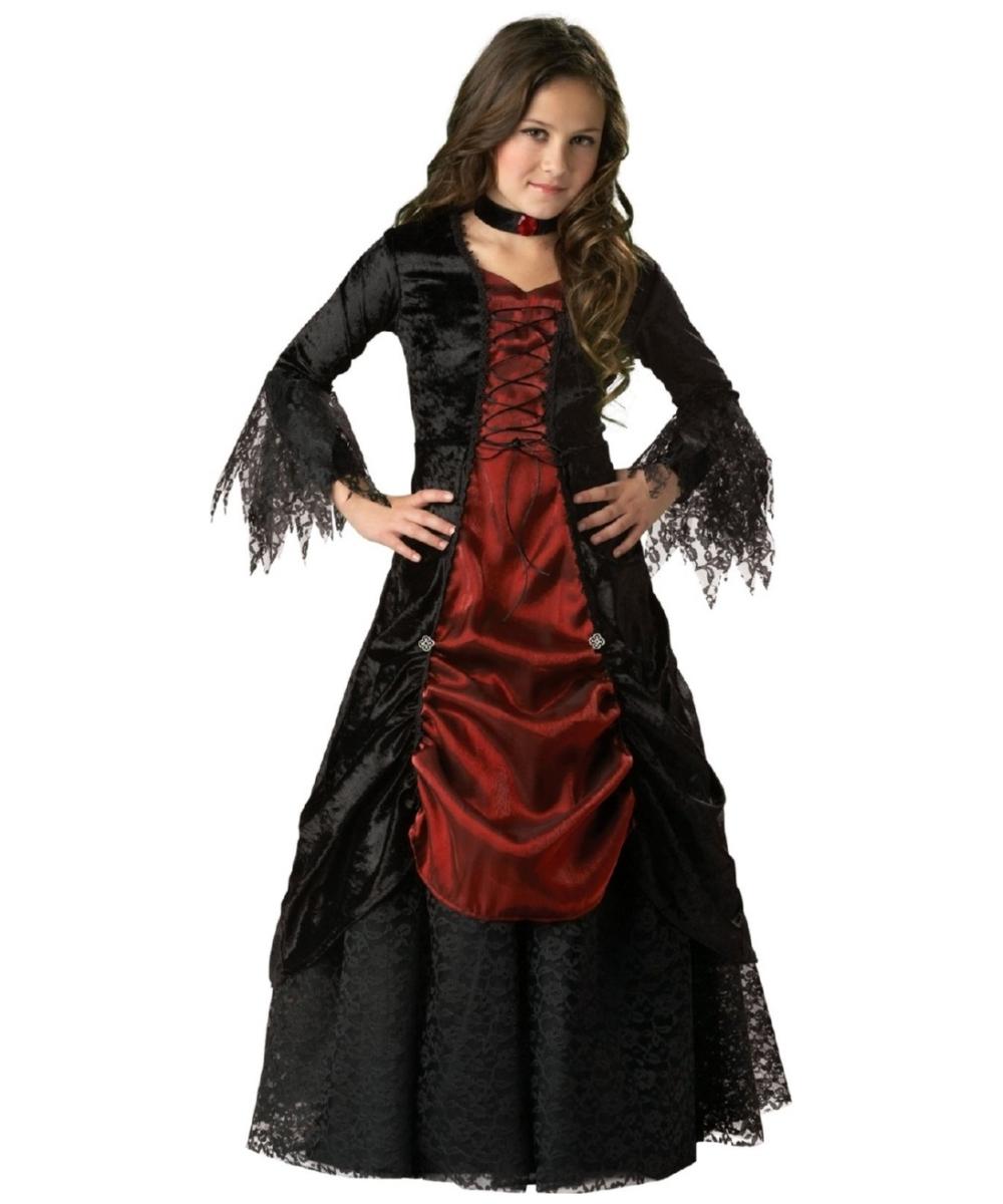 Gothic Vampira Kids Vampire Halloween Costume