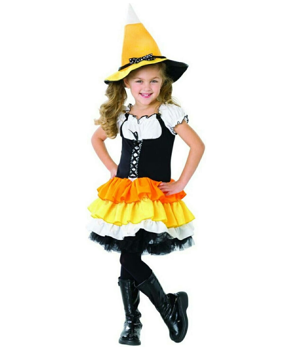 Witch Candy Corn Costume Dress - Girls Halloween Costumes