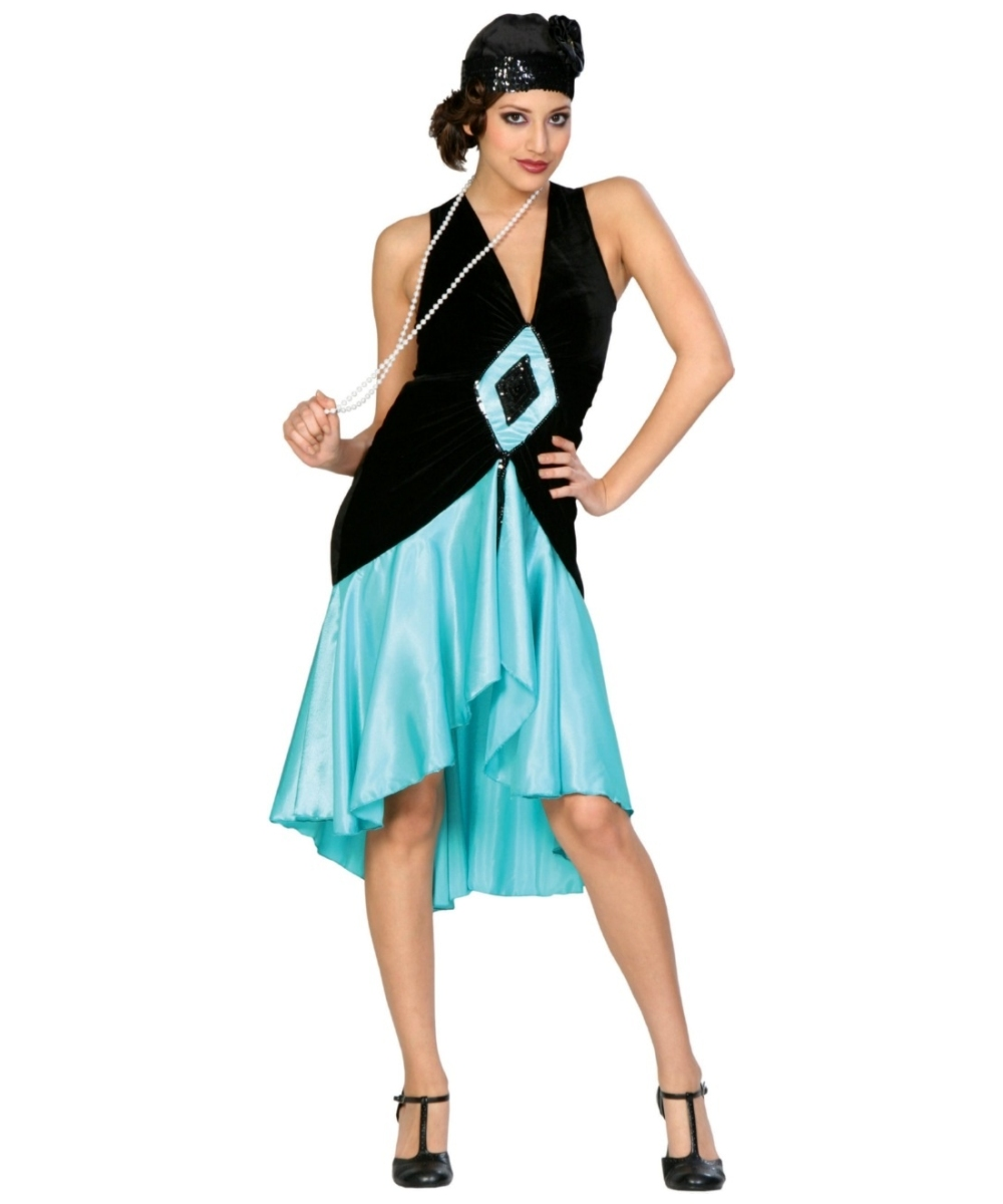 Adult Teal Puttin' on the Ritz Flapper 1920s Costume