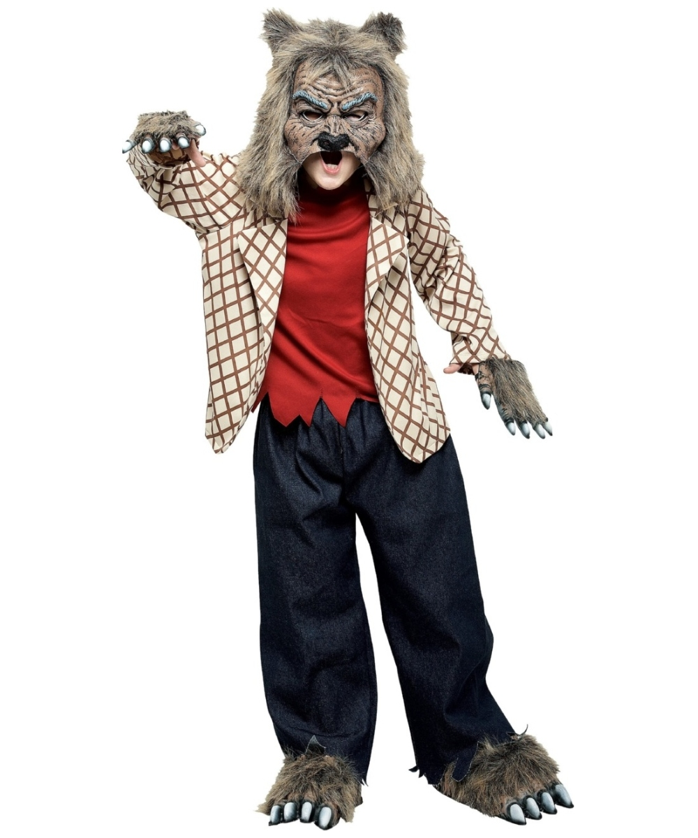 werewolf scary boys costume boy werewolf costumes - Wolf Halloween Costume Kids