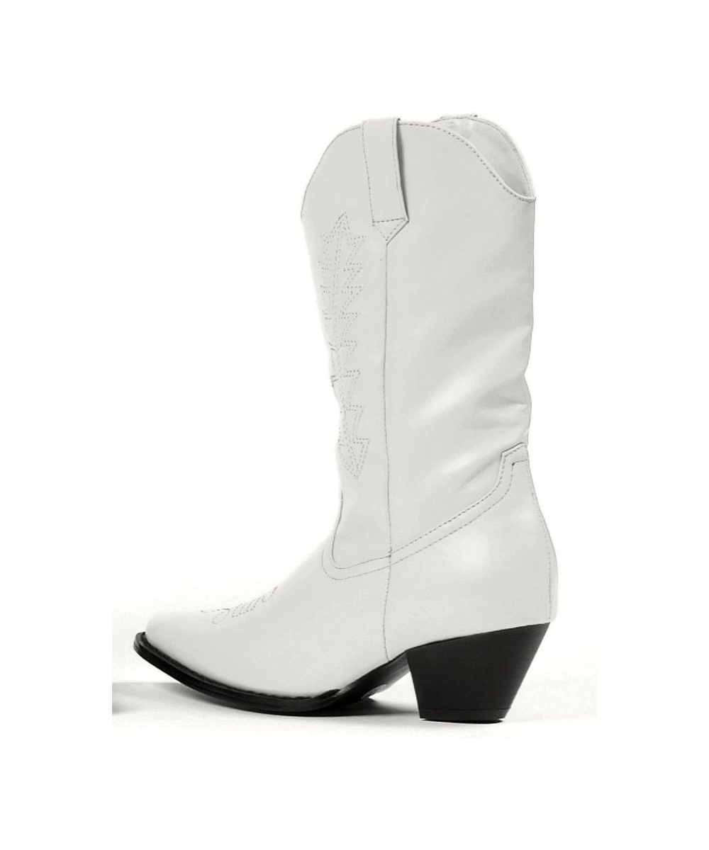 White Rodeo Boots Kids Shoes Costume Shoes