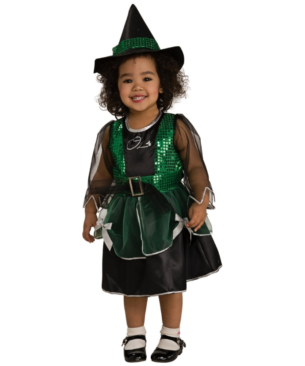 Wizard of Oz Wicked Witch Kids Halloween Costume - Girls Witch ...