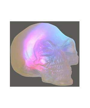 Color Changing Crystal Skull Halloween Decoration