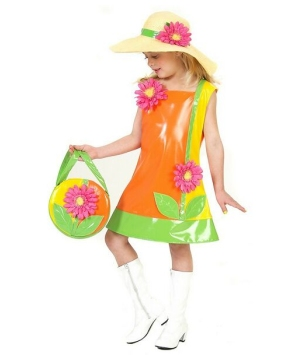 Flower Hippie Girls Costume