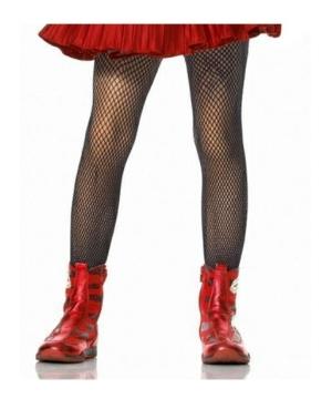 Girls Black Tights Fishnet Stockings