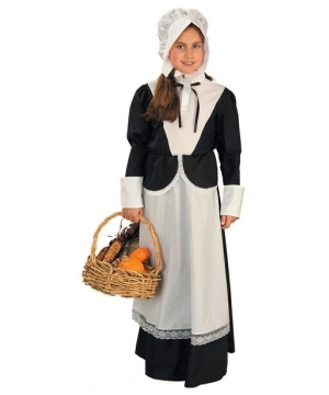 Girls Colonial Pilgrim Kids Costume