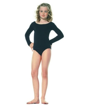 Girls Dance Black Bodysuit Costume