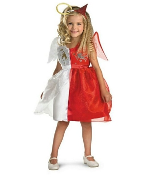 Girls Devilish Angel Costume