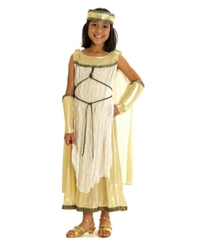 Girls Golden Greek Goddess Costume