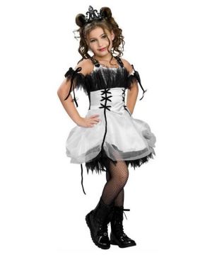 Girls Gothic Ballerina Costume