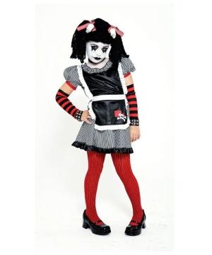 Gothic Rag Doll Girls Costume
