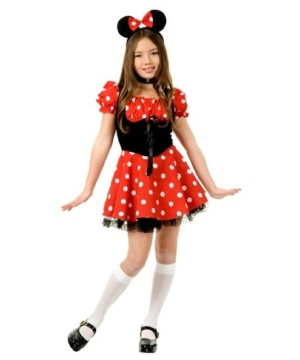 Girls Miss Mouse Costume
