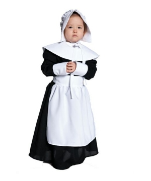 Girls Pilgrim Kids Costume