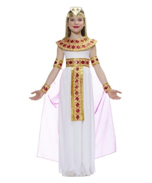 Girls Pink Cleopatra Egyptian Costume