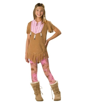 Girls Sassy Squaw Indian Costume