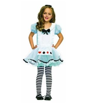 Adorable Alice in Wonderland Girls Costume