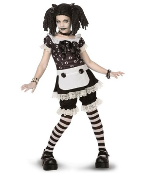 Gothic Rag Doll Kids Costume