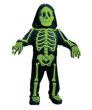 Green Skelebones Kids Costume
