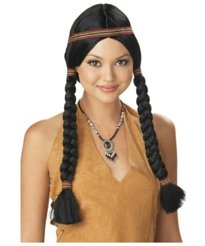 Indian Maiden Wig Adult Accessory