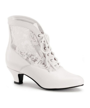 Ivory Victorian Boots - Adult Shoes