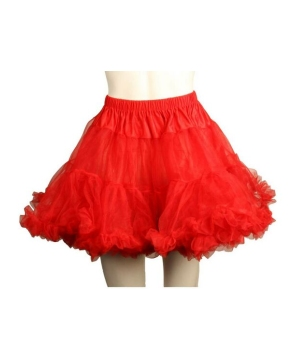 Layered Tulle Petticoat Red - Adult Accessory