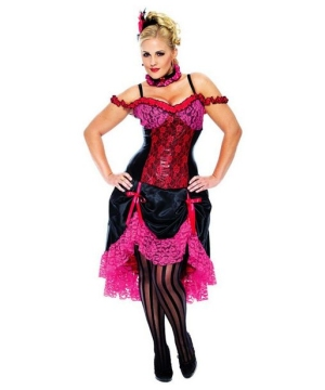 Madame Can Can Costume - Adult plus size Costume