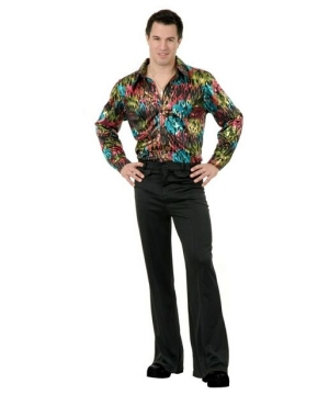 Mens Black Disco Pants Costume