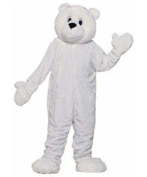Plush Polar Bear Mascot Costume
