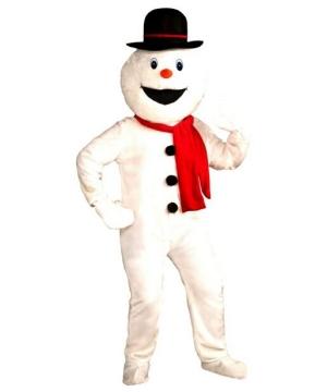 Plush Snowman Mascot Costume