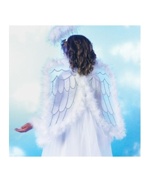 Pretty Angel Wings Kids Costume