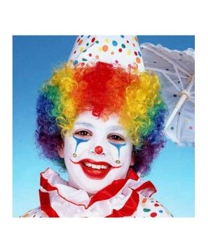 Rainbow Clown Kids Wig