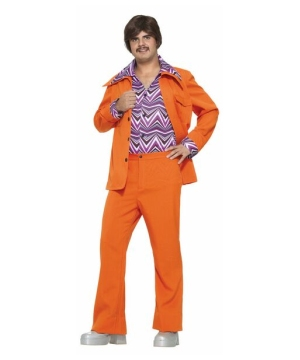 S Leisure Suit Orange Costume