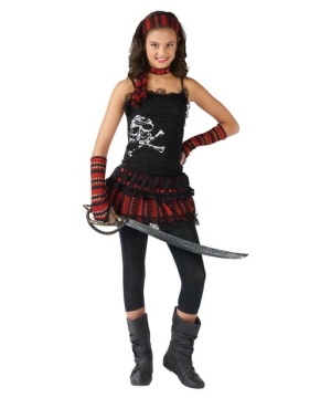 Skull Rocker Kids Pirate Costume