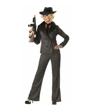 Womens Gangster Lady Costume