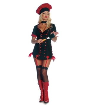 Womens Midnight Sizzle Chef Costume
