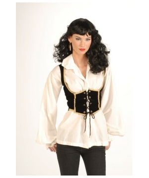 Womens Pirate Vest Costume