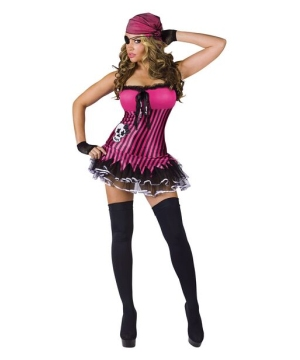 Rocking Skull Pirate Women Costume