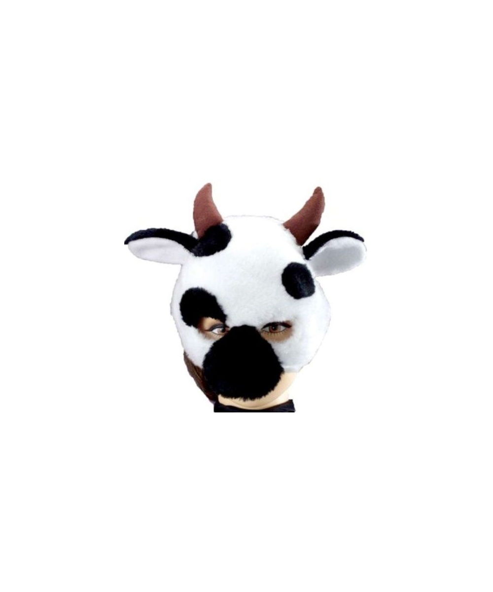 Cow Half Mask With Fun Sound - Costume Accessory - Halloween Mask ...
